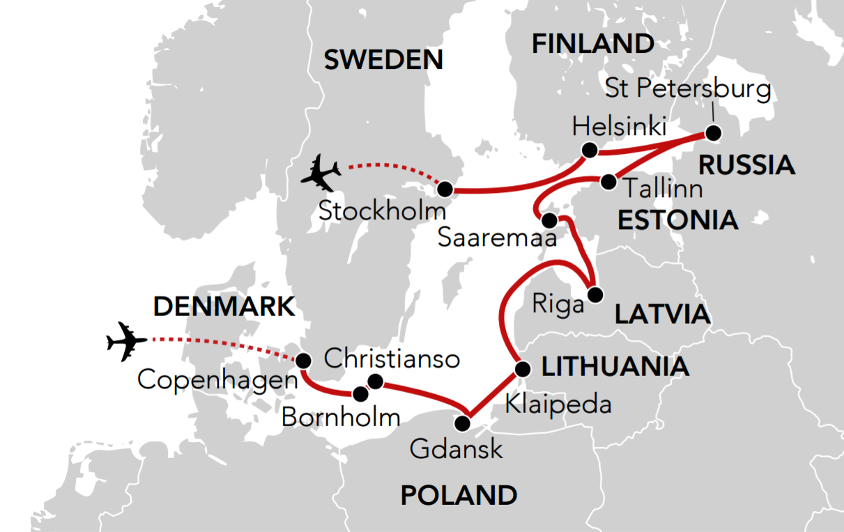 Map for Baltic Odyssey
