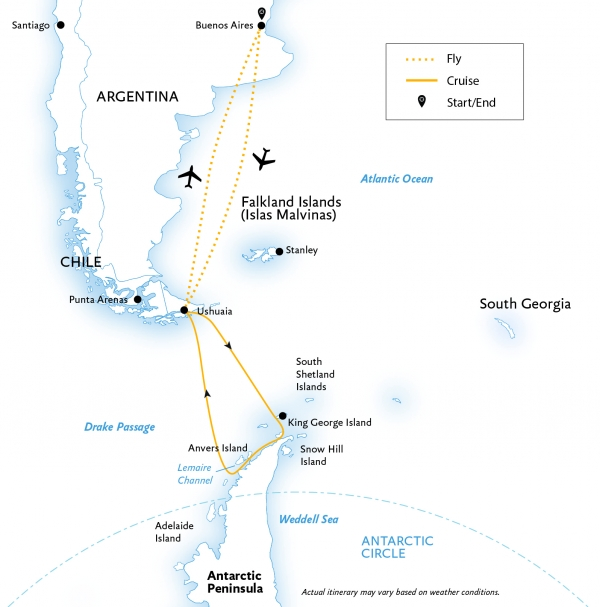 Map for Antarctic Explorer: All-Inclusive