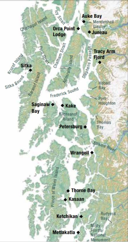 Map for Alaska's Spring Wilderness and Wildlife Quest