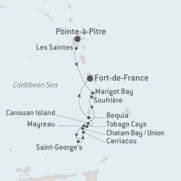Map for Christmas in the Grenadines