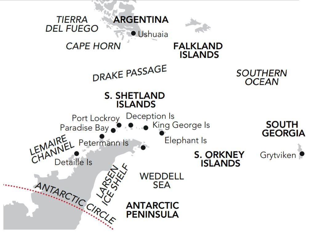 Map for An Expedition to the Great White Continent