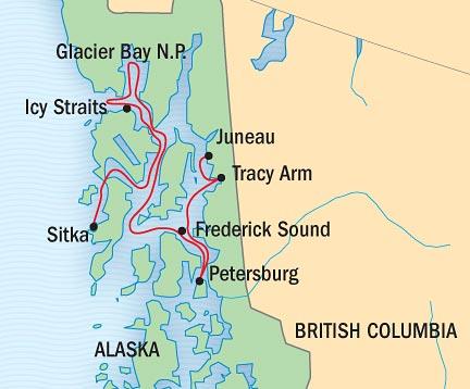 Map for Exploring Alaska's Coastal Wilderness (NG Quest)