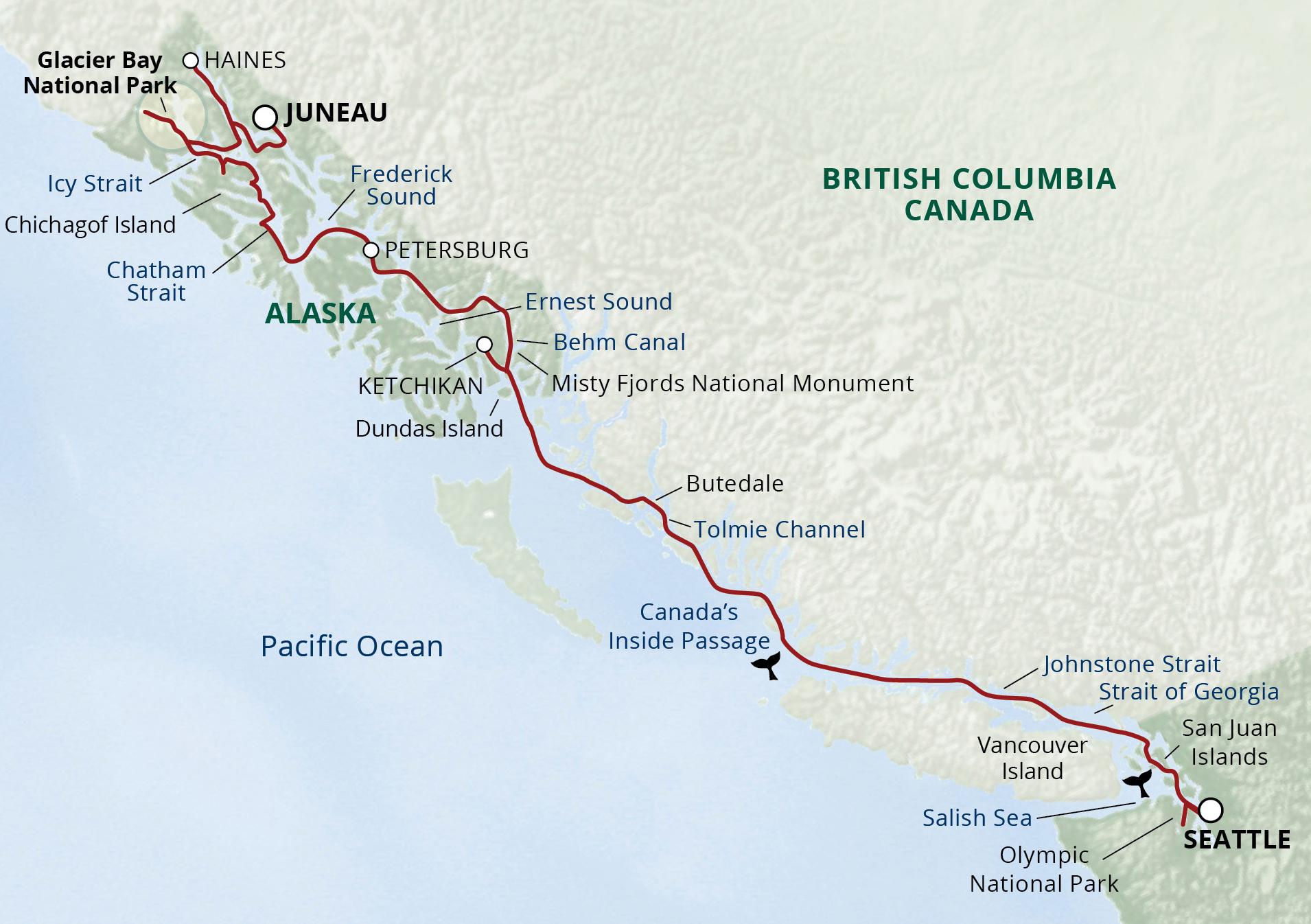 Inside Passage Seattle To Juneau Cruise Alaska Helping