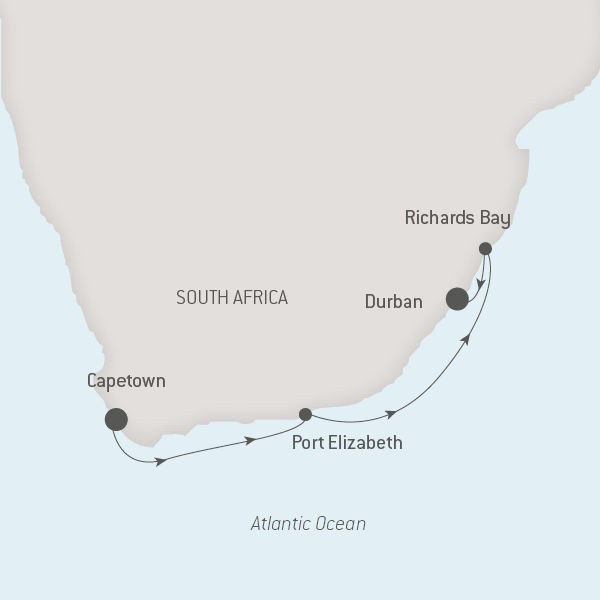 Map for Along the South African Coastline