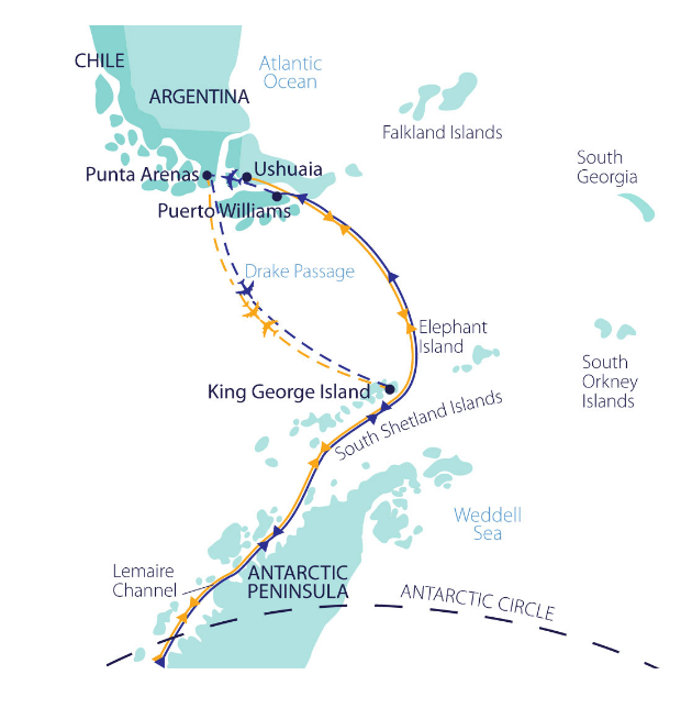 Map for Across The Antarctic Circle