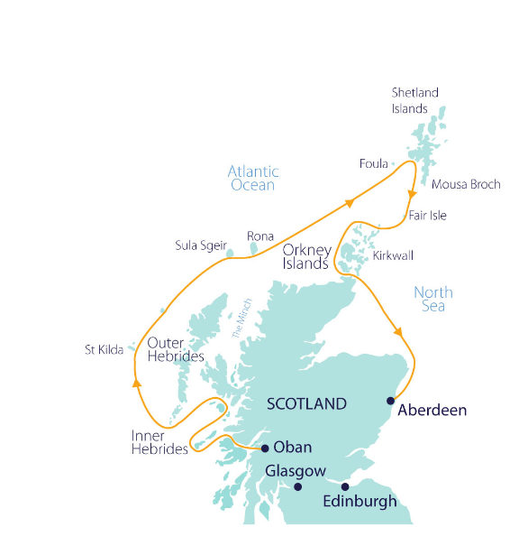 Map for Wild Scotland