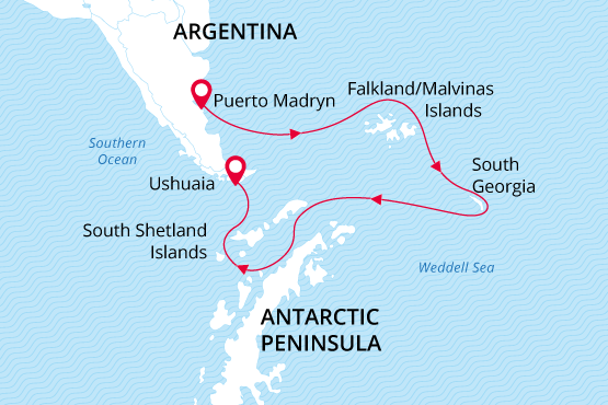 Map for Antarctic Awakening