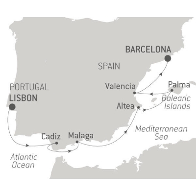 Map for From Lisbon to Barcelona: Musical Portugal & Spain