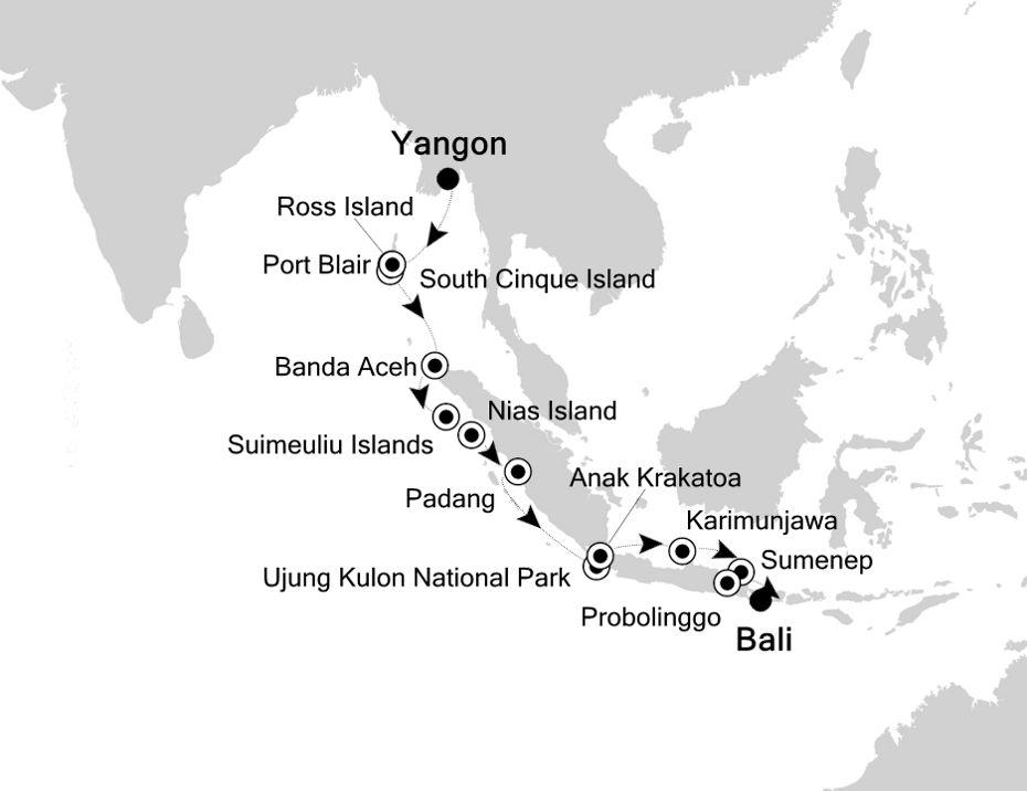 Islands of java sumatra and bali wild earth travel map for islands of java sumatra and bali gumiabroncs Images