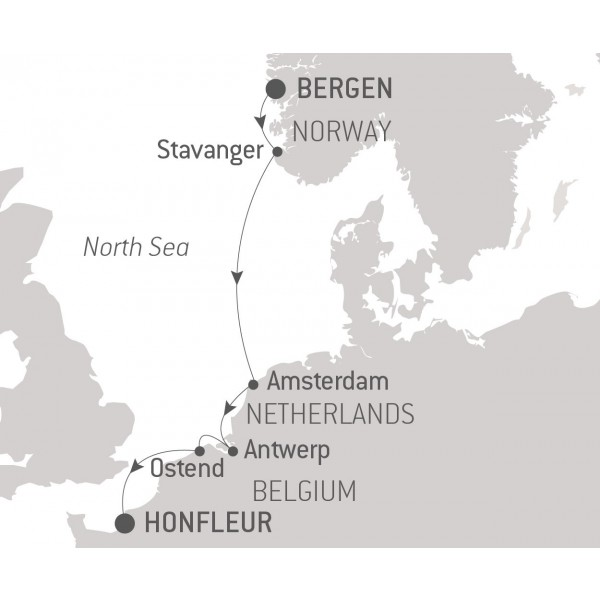 Map for Treasures of the North Sea