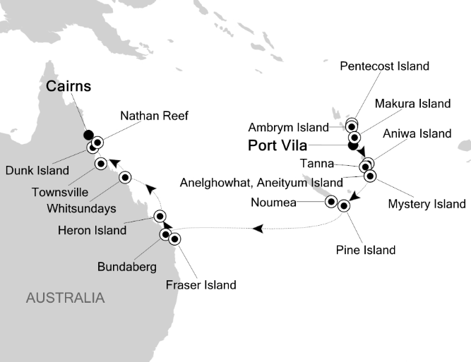 Map for Pearls of the Coral Sea