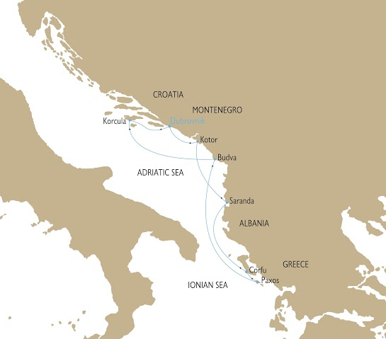 Map for The Adriatic Odyssey