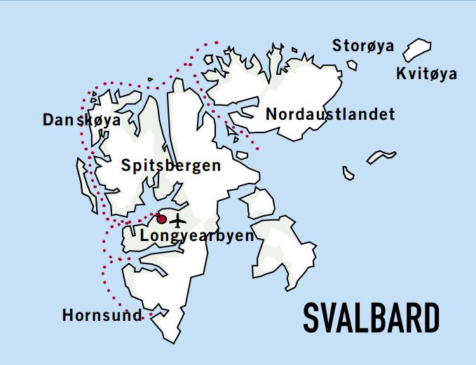 Map for Svalbard Adventure (MS Sjoveien)