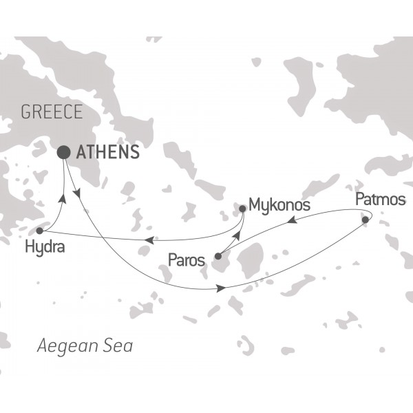 Map for An Aegean Sojourn