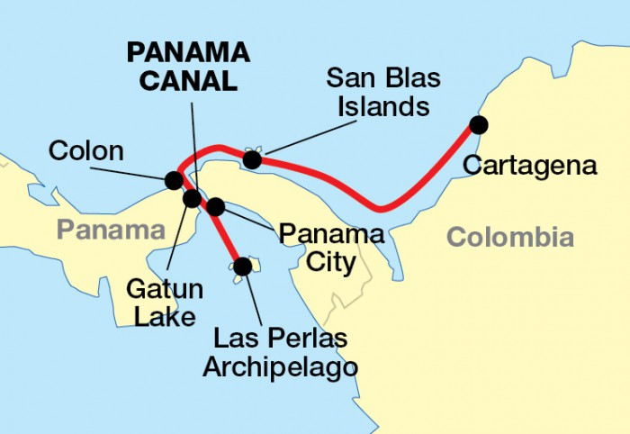Panama Canal Cruise - Where is panama