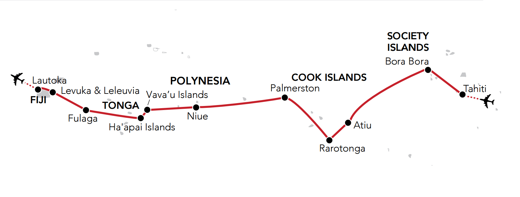 Map for Passage to Polynesia & Beyond