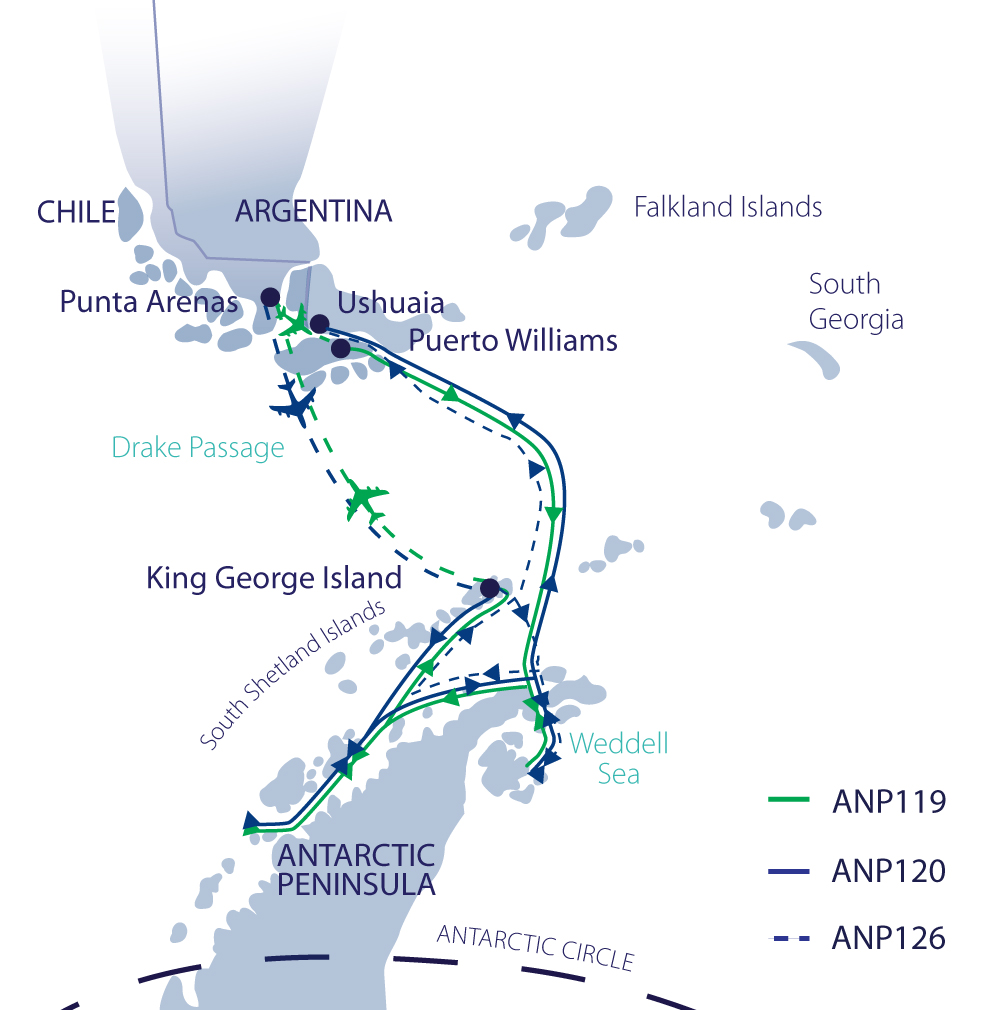 Map for Antarctic Explorer