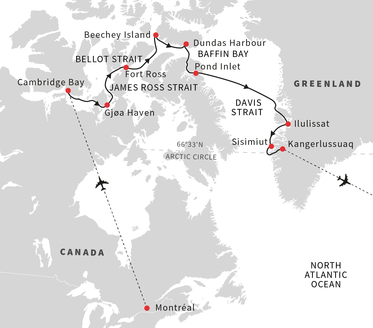 Map for In the Wake of Great Explorers - Eastbound