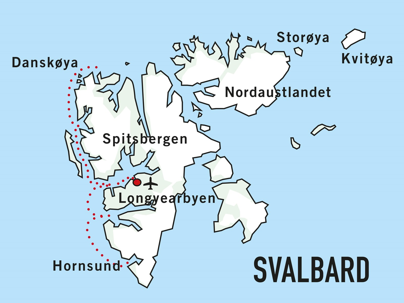 Map for Springtime in Svalbard (Sea Endurance)
