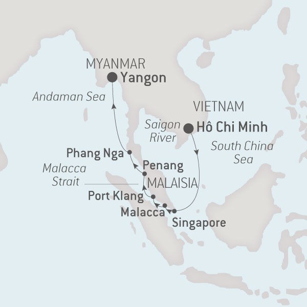 Map for From Vietnam to Myanmar