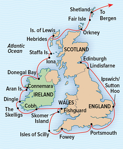 Map for England, Ireland, Scotland & Wales Exploration