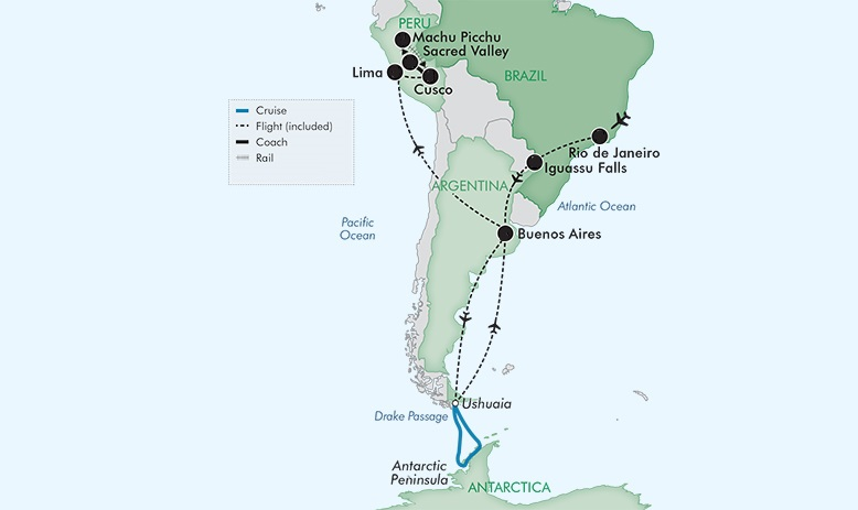 Map for Best Of South America