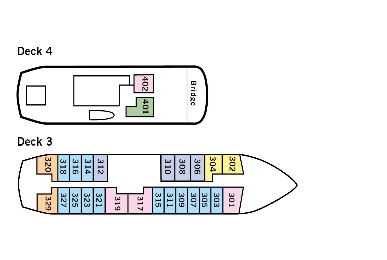Cabin layout for Quest