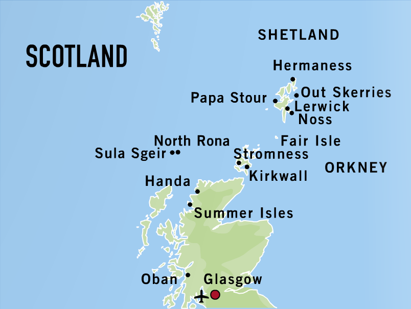 The Orkney and Shetland Islands