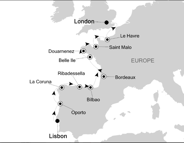 Map for Epicurean Europe
