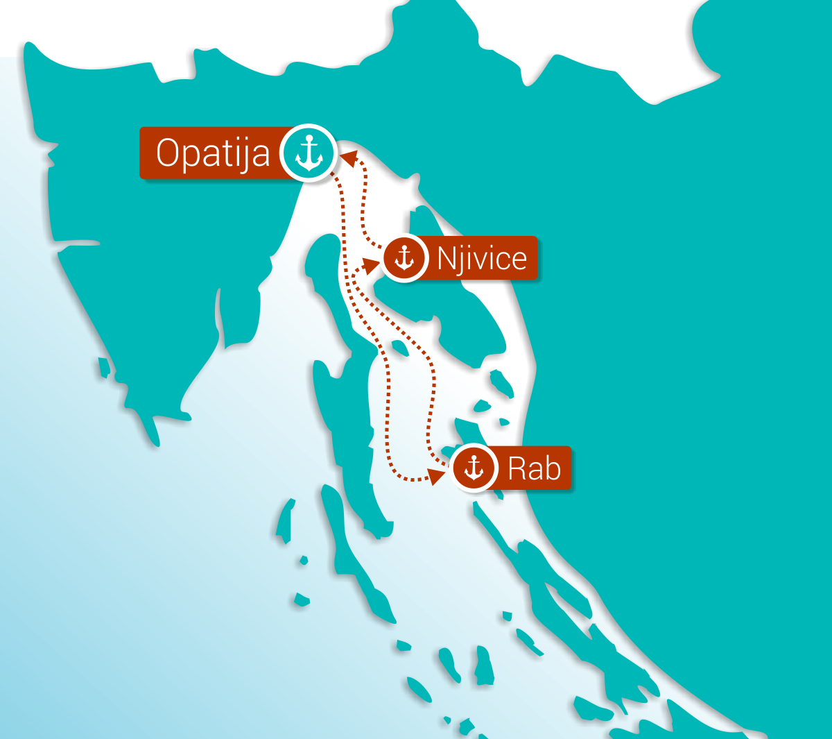 Map for Kvarner Gourmet Cruise