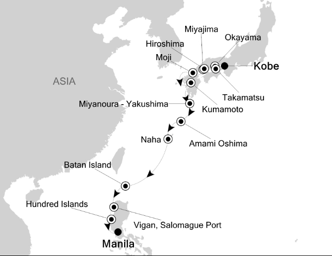 Map for Across the East China and Philippine Seas
