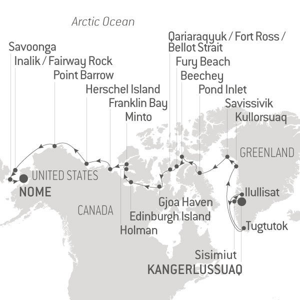 Map for The Northwest Passage (Le Soleal)