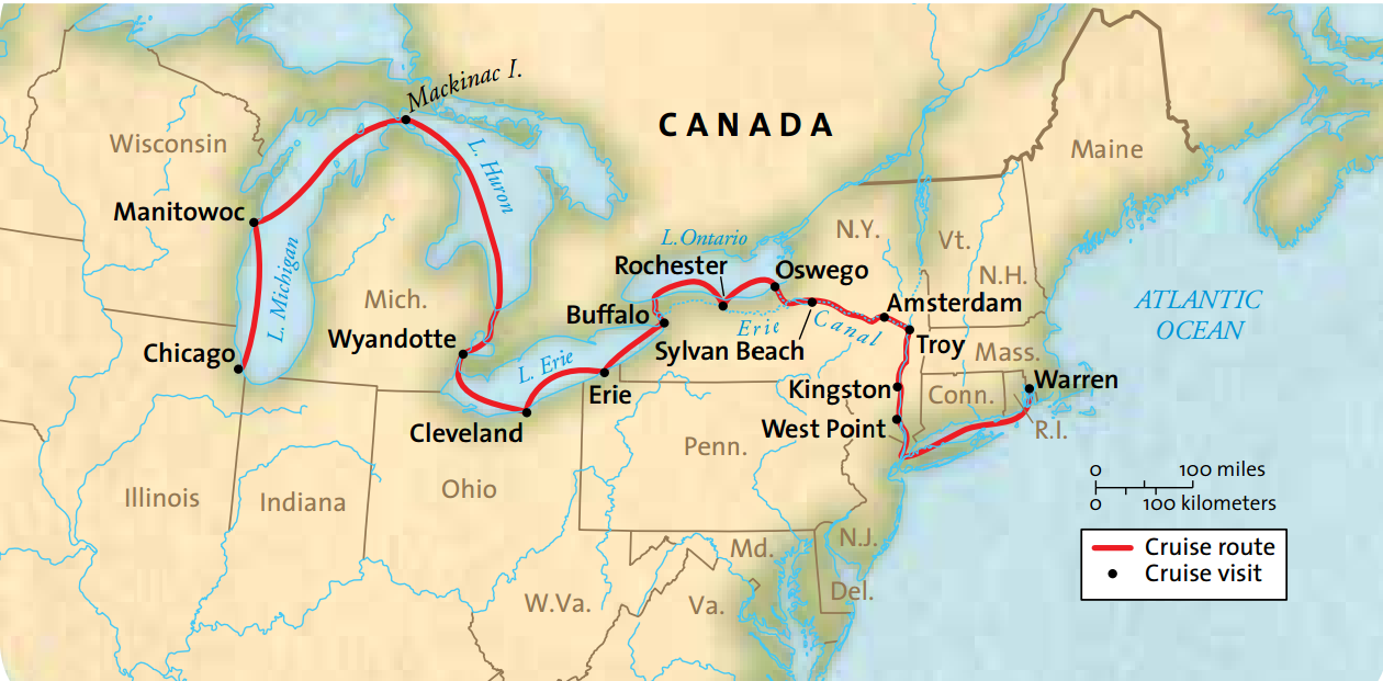 Map for Great American Waterways