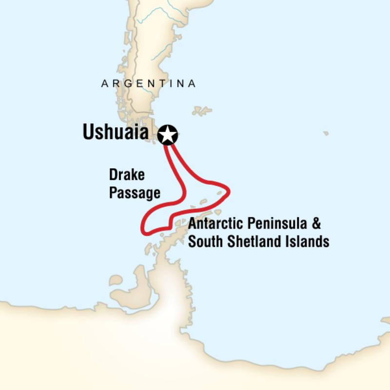 Map for Antarctica Classic in Depth