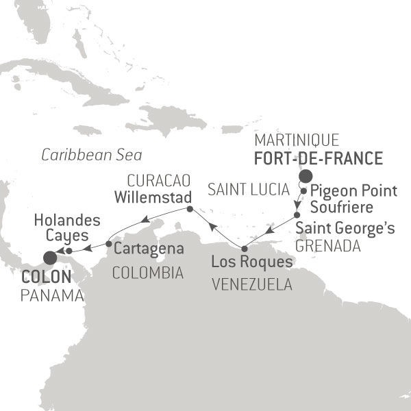 Map for Between Martinique and Panama