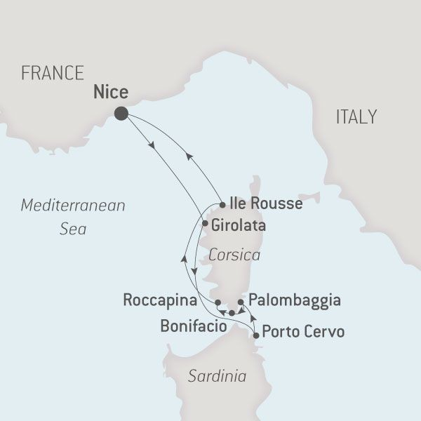 Map for The Great Corsican Loop