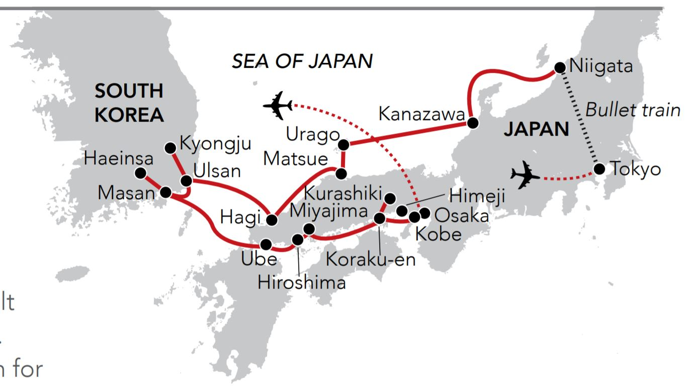 Map for Timeless Japan