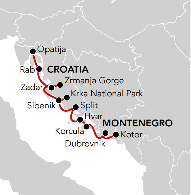 Map for Along the Adriatic Coast