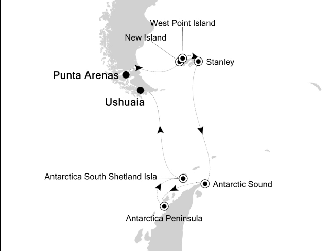 Map for Antarctica Adventure