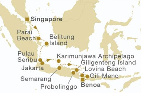 Spring crossing from singapore to bali wild earth travel map for spring crossing from singapore to bali gumiabroncs Gallery