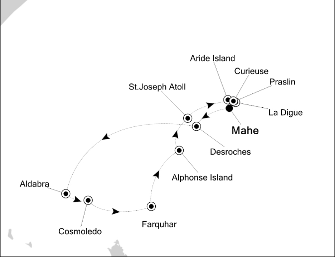 Map for Magical Experiences of Seychelles