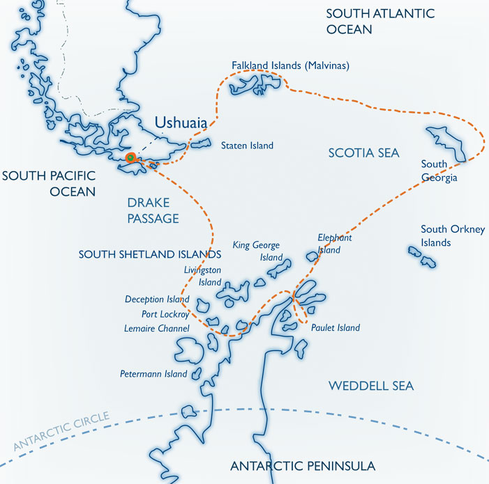 Map for Classic South Georgia
