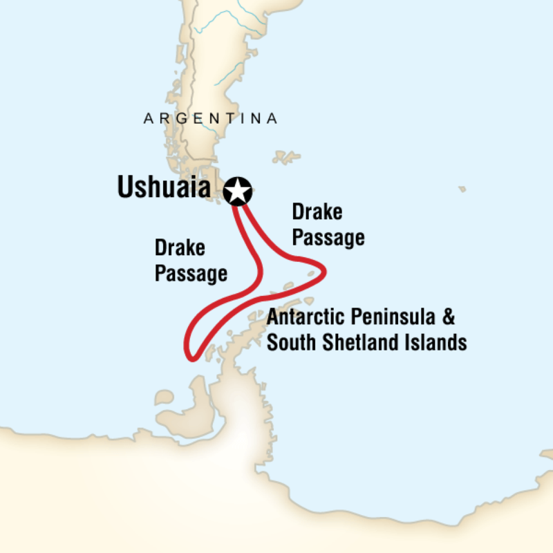 Map for Quest for the Antarctic Circle