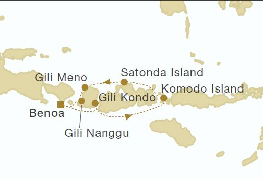 Map for Indonesia Eastbound (Star Clipper)