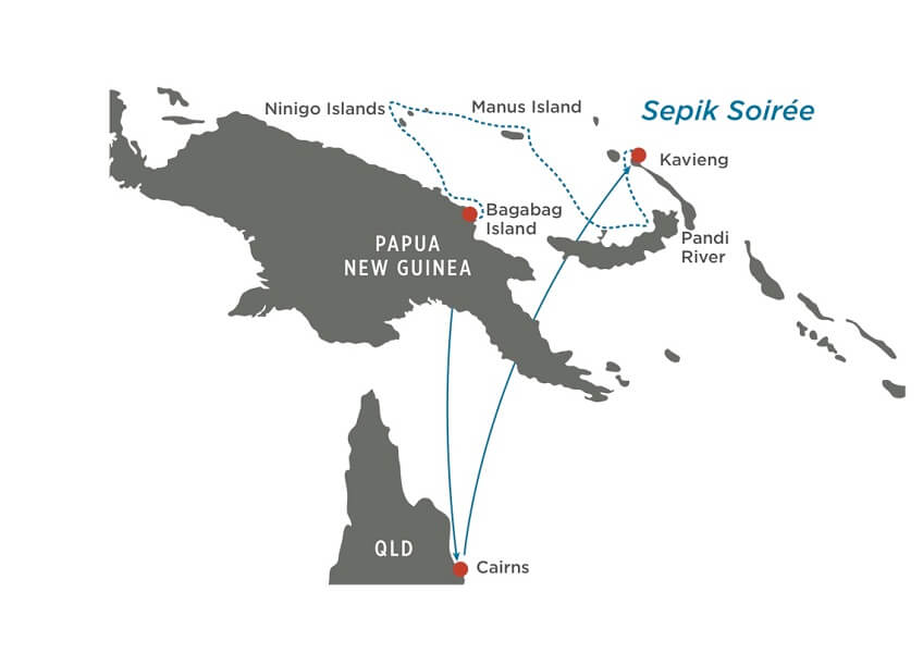 Map for Sepik Soiree (Papua New Guinea)