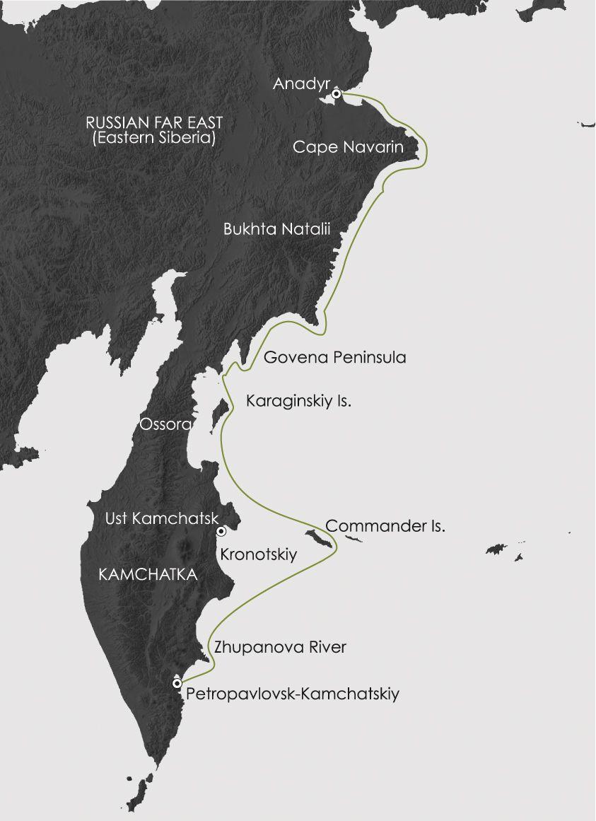Map for Siberia's Forgotten Coast
