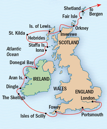 Map for Exploring the British and Irish Isles