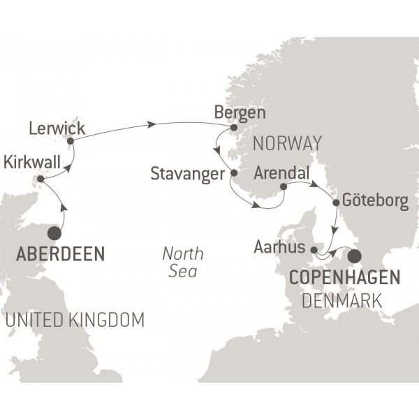 Map for From Scotland to Scandinavia
