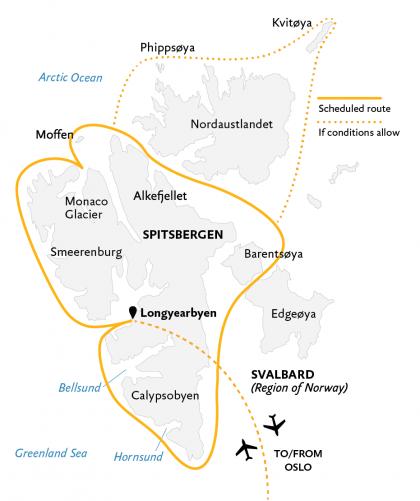 Map for Spitsbergen In Depth (World Explorer)