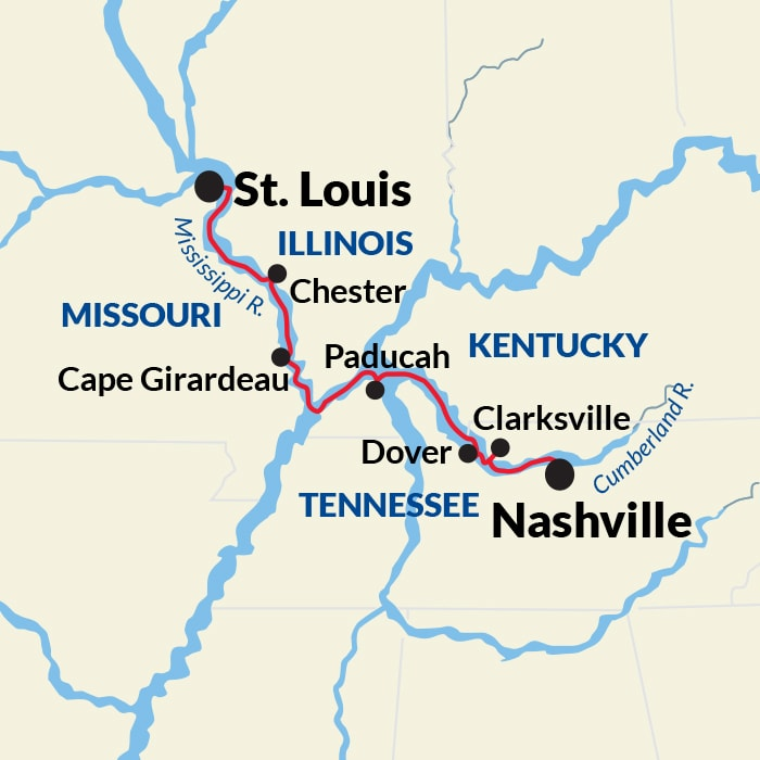 Map for Cumberland River Cruise